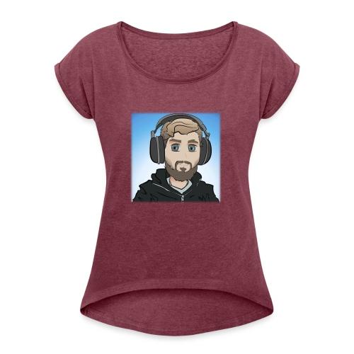 KalzAnimated - Dame T-shirt med rulleærmer