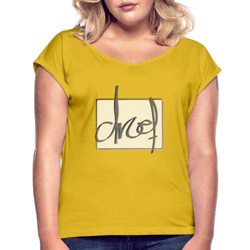 Droef 2020 logo - Vrouwen T-shirt met opgerolde mouwen