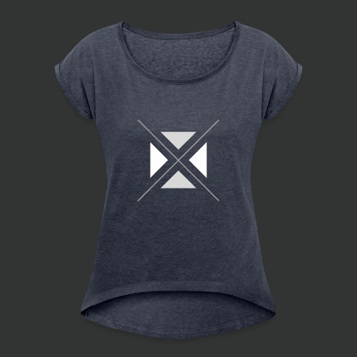 triangles-png - Women's T-Shirt with rolled up sleeves