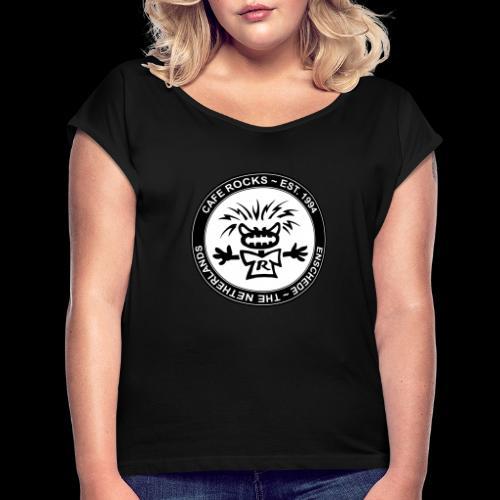 Emblem BW - Vrouwen T-shirt met opgerolde mouwen