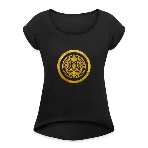 Ikko Ikki Mon Japanese clan - Women's T-Shirt with rolled up sleeves