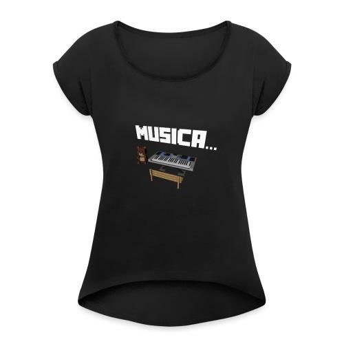 Tedy's Piano - Camiseta con manga enrollada mujer