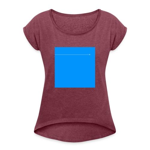 sklyline blue version - T-shirt à manches retroussées Femme
