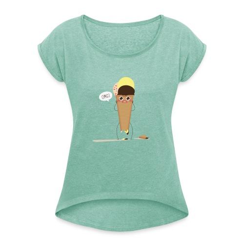screaming ice cream - Maglietta da donna con risvolti