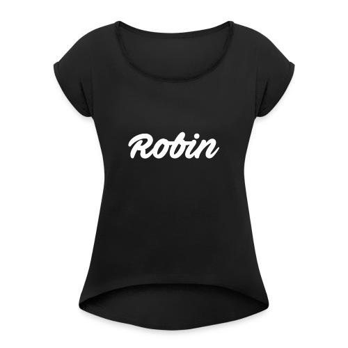 T-shirt - Vrouwen T-shirt met opgerolde mouwen