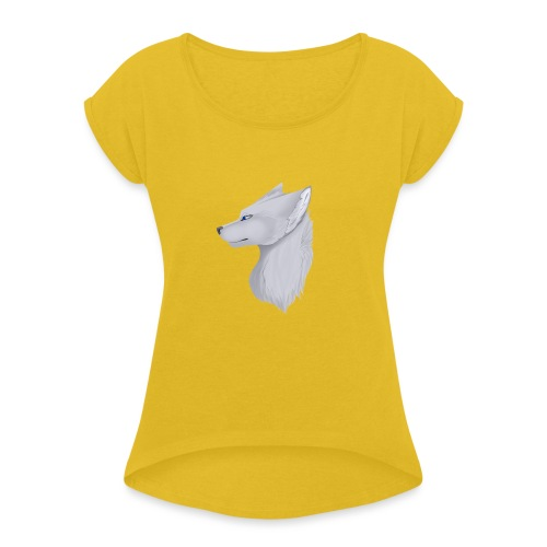 Wolf Bib - Women's T-Shirt with rolled up sleeves
