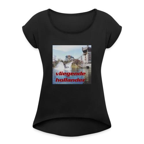 t shirt man Vliegende Hollander - Vrouwen T-shirt met opgerolde mouwen