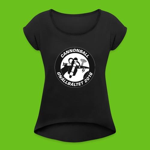 CB2016 Hoodie - T-shirt med upprullade ärmar dam