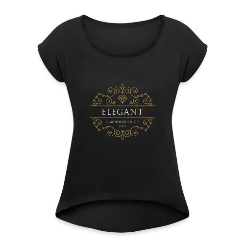 Sweat à capuche ELEGANT - T-shirt à manches retroussées Femme