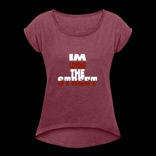 IMLOVINGTHESTREET - Dame T-shirt med rulleærmer