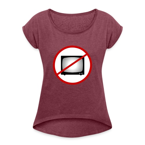notv - Women's T-Shirt with rolled up sleeves