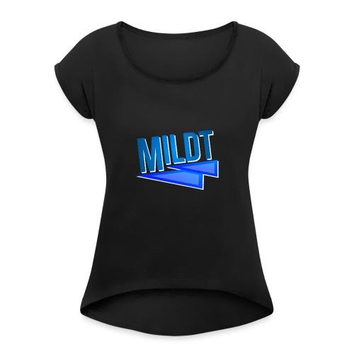 MILDT Normale Kids Shirt - Vrouwen T-shirt met opgerolde mouwen