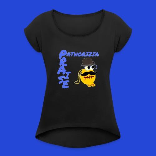 PraisePathorizia - Maglietta da donna con risvolti