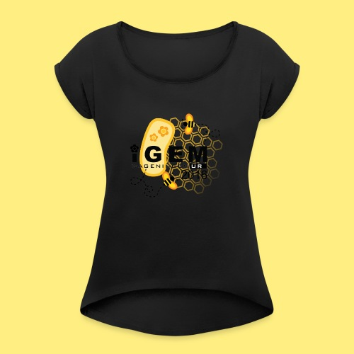 Logo - shirt men - Vrouwen T-shirt met opgerolde mouwen