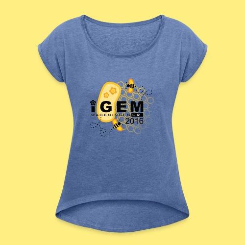 Logo - mug - Vrouwen T-shirt met opgerolde mouwen