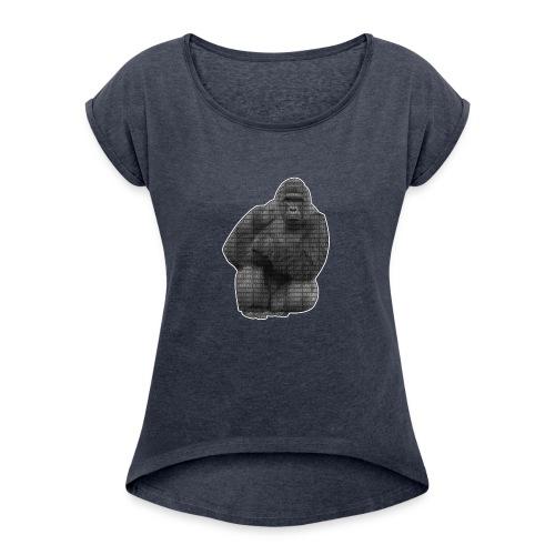 harambe 2k png - Dame T-shirt med rulleærmer