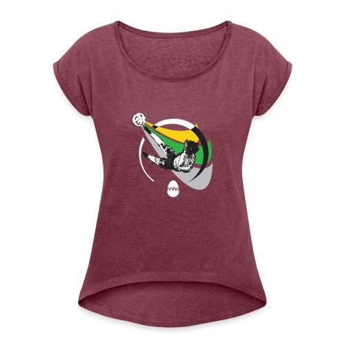 Ninho Over Footbal - Maglietta da donna con risvolti
