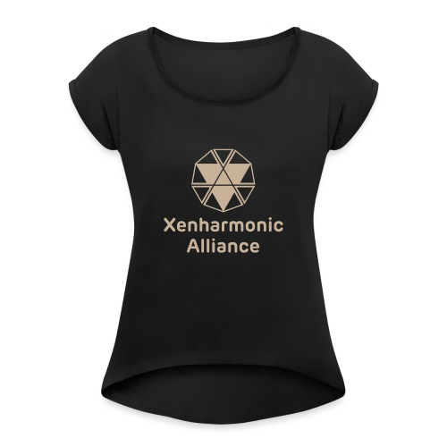 Xenharmonic Aliiance Tan - Women's T-Shirt with rolled up sleeves