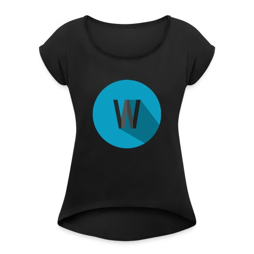 Weekiewee logo - Women's T-Shirt with rolled up sleeves