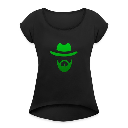 izicron logo vert - T-shirt à manches retroussées Femme