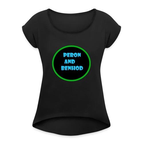 Sportkläder - T-shirt med upprullade ärmar dam