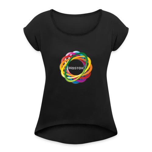 Mastok`s Logo - Frauen T-Shirt mit gerollten Ärmeln