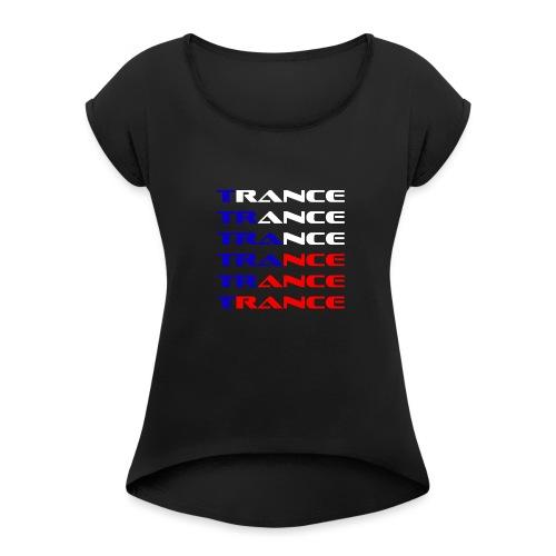 Trance Tjeckien - T-shirt med upprullade ärmar dam