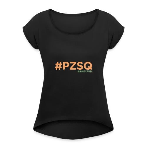 PZSQ - Maglietta da donna con risvolti