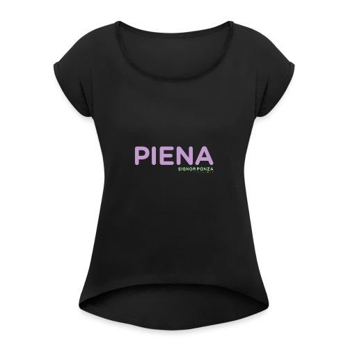 PIENA - Maglietta da donna con risvolti