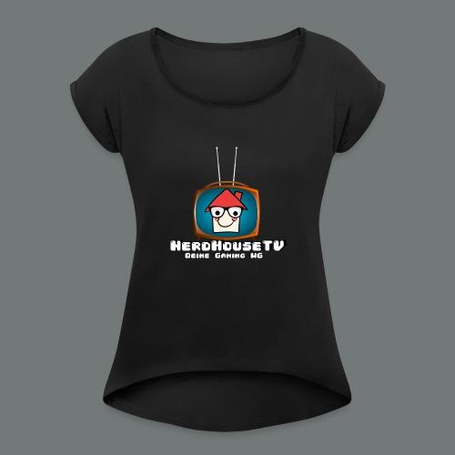 Nerdhouse - Frauen T-Shirt mit gerollten Ärmeln