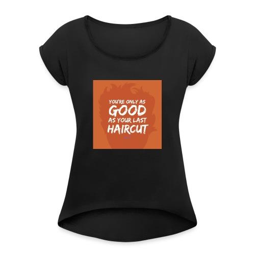 Orange_Toupee - Vrouwen T-shirt met opgerolde mouwen