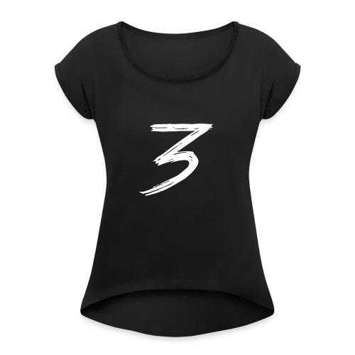 3 Logo - Maglietta da donna con risvolti