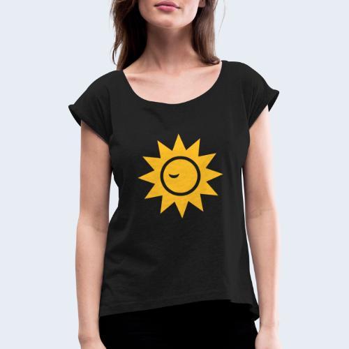 Winky Sun - Vrouwen T-shirt met opgerolde mouwen