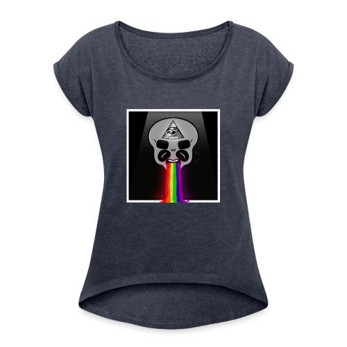 Alien Had - Frauen T-Shirt mit gerollten Ärmeln