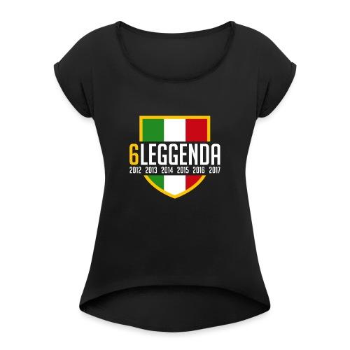 6LEGGENDA BLACK - Maglietta da donna con risvolti