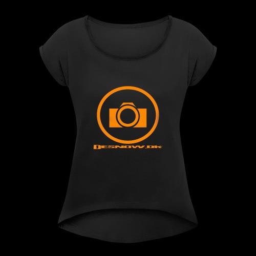 Orange 2 png - Dame T-shirt med rulleærmer
