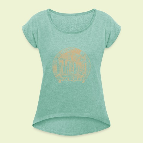 FFM Skyline R - Frauen T-Shirt mit gerollten Ärmeln