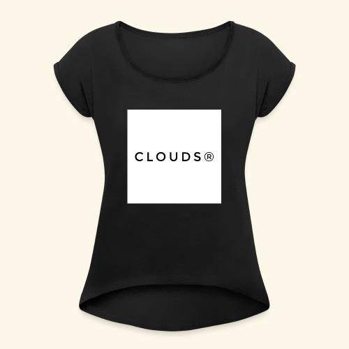 Clouds 01 - Frauen T-Shirt mit gerollten Ärmeln