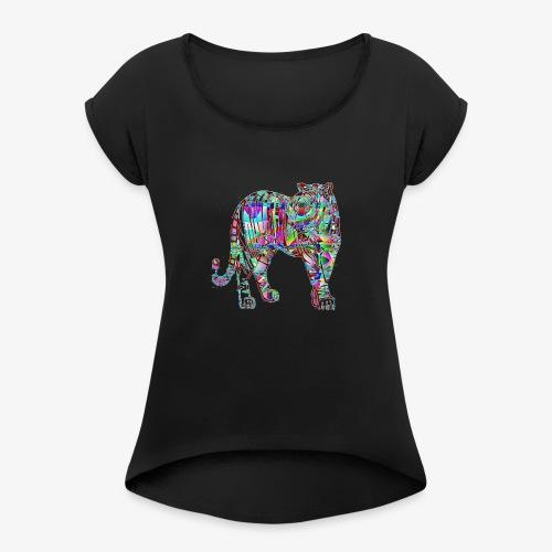 Tigre - T-shirt à manches retroussées Femme