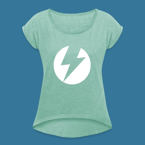 BlueSparks - White - Women's T-Shirt with rolled up sleeves