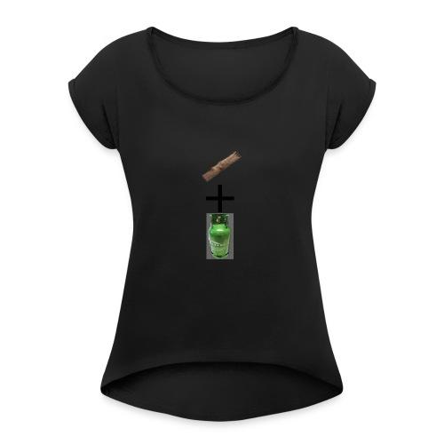 plank + gas - T-shirt à manches retroussées Femme