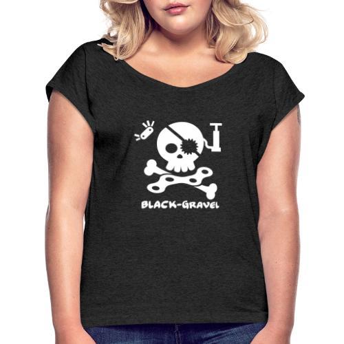 Black Gravel Italia - Maglietta da donna con risvolti