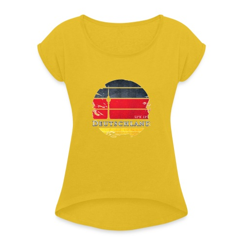 DEUTSCHLAND 2 - Women's T-Shirt with rolled up sleeves