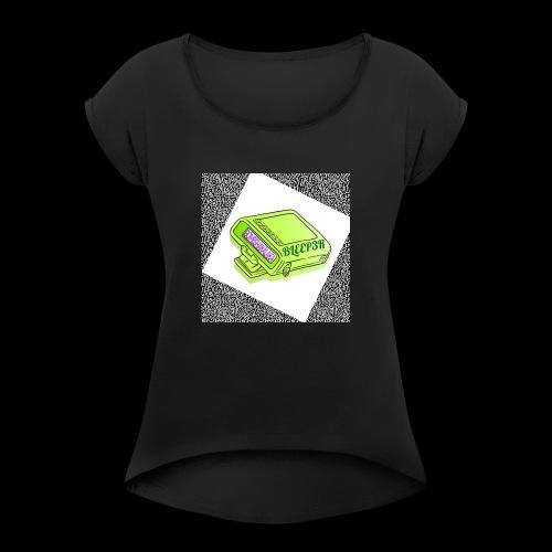 bleeper 2 - Frauen T-Shirt mit gerollten Ärmeln