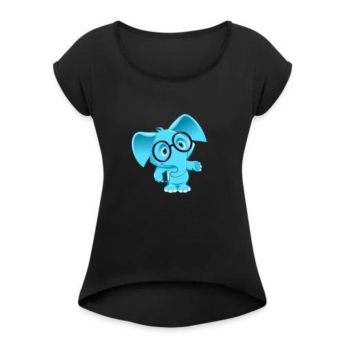 elephan1 - T-shirt à manches retroussées Femme