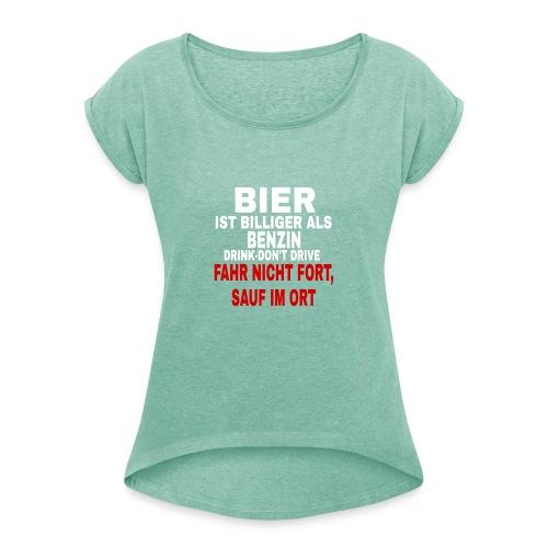 PicsArt 02 25 12 47 57 - Frauen T-Shirt mit gerollten Ärmeln