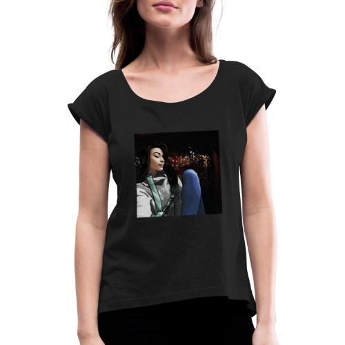 420 Girl - Maglietta da donna con risvolti