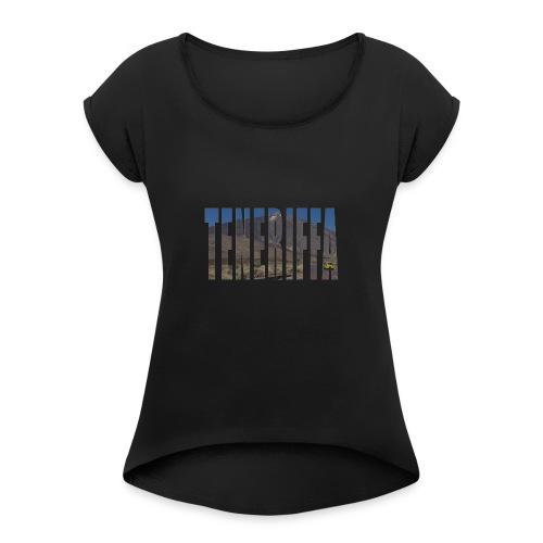 Testdesign2 - Frauen T-Shirt mit gerollten Ärmeln