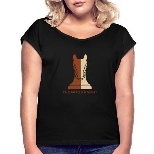The Good Knight - T-skjorte med rulleermer for kvinner