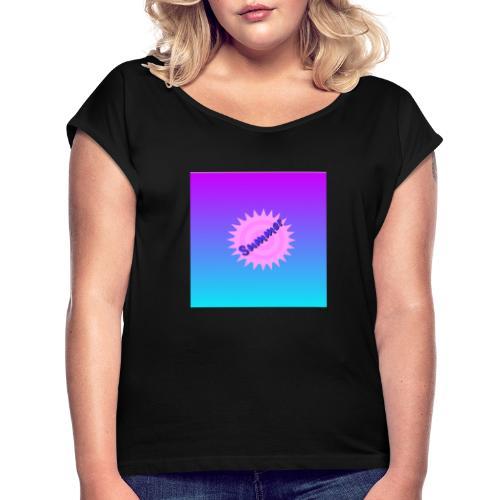 Summer Fashion - Frauen T-Shirt mit gerollten Ärmeln
